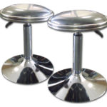 Gas Lift Stools with Leather Seat